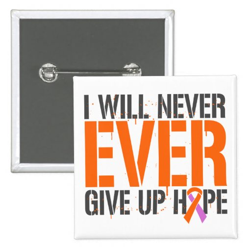 Eczema Psoriasis I Will Never Ever Give Up Hop Pinback Buttons