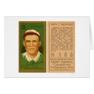 Ed Abbaticchio Boston Baseball 1911 Greeting Card