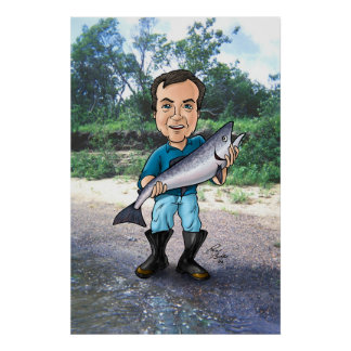 Ed and the Salmon Posters