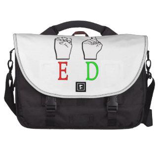 ED ASL FINGERSPELLED NAME SIGN LAPTOP BAGS