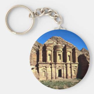 """""""Ed-Deu"""", templo, Petra, Jordania Llavero Redondo Tipo Pin"""
