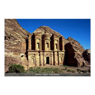 """""""Ed-Deu"""", templo, Petra, Jordania Póster"""