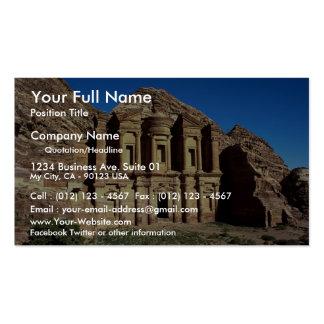 Ed-Deu templo Petra Jordania Tarjetas De Visita