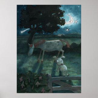 Ed el poster del claro de luna del perrito
