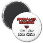 Ed especial. El profesor… trabajará para el vino Imán De Nevera