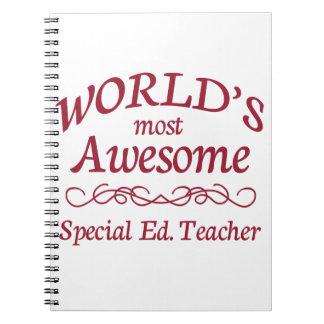 Ed especial más impresionante del mundo. Profesor Cuaderno