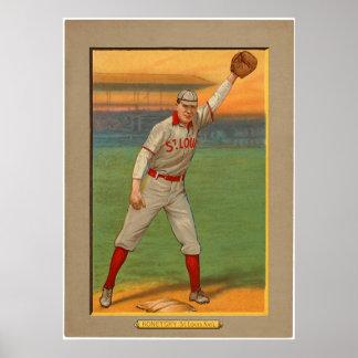 Ed Konetchy Cardinals Baseball 1911 Poster