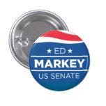 Ed Markey para los botones del senado Pin Redondo De 1 Pulgada