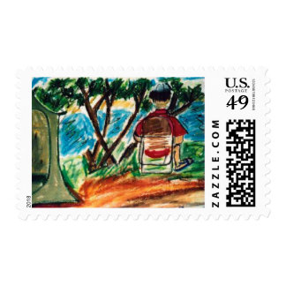 Ed Reading on the Frio River Stamp