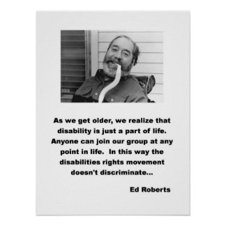 Ed Roberts ADA speech Posters