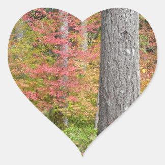 Ed Sutton - árbol de la caída Pegatina En Forma De Corazón