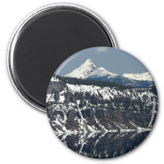 Ed Sutton - Lake Reflection 2 Inch Round Magnet