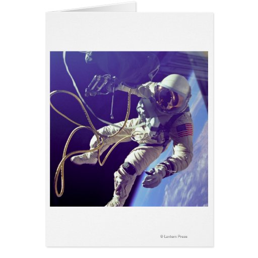 Ed White First American Spacewalker Photograph Greeting Card