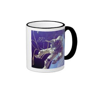 Ed White First American Spacewalker Photograph Ringer Coffee Mug