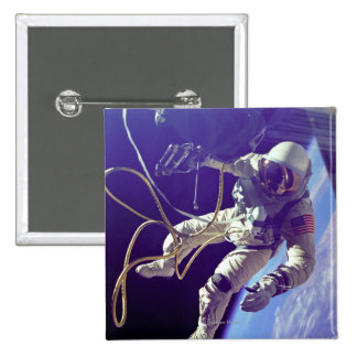 Ed White First American Spacewalker Photograph Pinback Button
