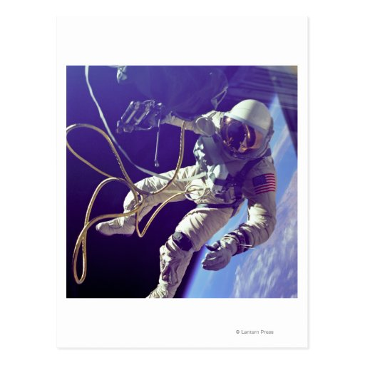 Ed White First American Spacewalker Photograph Postcards