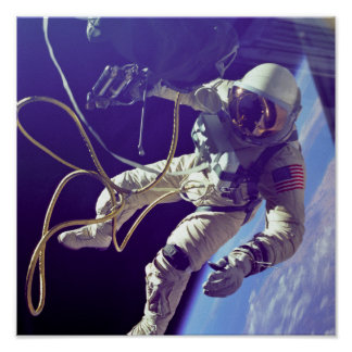 Ed White First American Spacewalker Photograph Poster