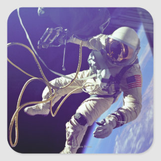Ed White First American Spacewalker Photograph Square Sticker