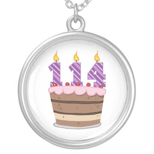 Edad 114 en la torta de cumpleaños grimpola personalizada