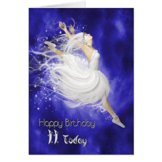 Edad 11, saltando la tarjeta de cumpleaños de la