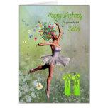 Edad 11, tarjeta de la hermana de cumpleaños de ha