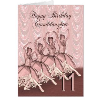 Edad 11, una tarjeta de la nieta de cumpleaños de