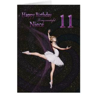 Edad 11, una tarjeta de la sobrina de cumpleaños d