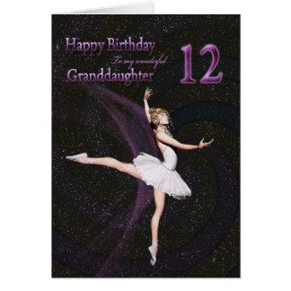 Edad 12, una tarjeta de la nieta de cumpleaños de