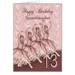 Edad 13, una tarjeta de la nieta de cumpleaños de