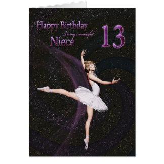 Edad 13, una tarjeta de la sobrina de cumpleaños d