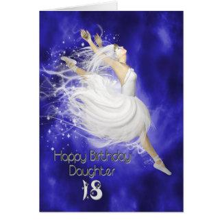 Edad 18 de la hija saltando la tarjeta de cumplea