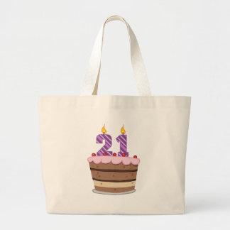 Edad 21 en la torta de cumpleaños bolsas de mano