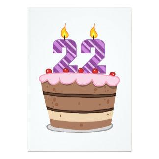 Edad 22 en la torta de cumpleaños anuncios personalizados