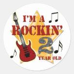 Edad 2 de Rockin Pegatinas Redondas