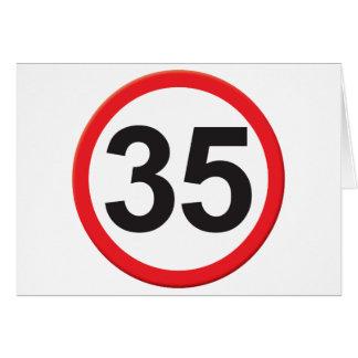 Edad 35 tarjeta de felicitación