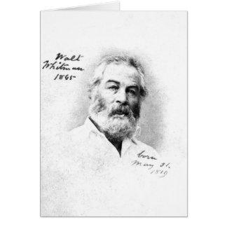 Edad 46 de Walt Whitman Tarjeta De Felicitación