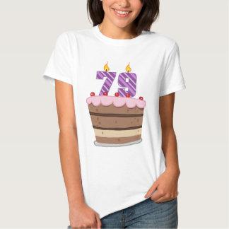 Edad 79 en la torta de cumpleaños remeras