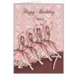 Edad 7, una tarjeta de la sobrina de cumpleaños de