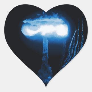 Edad atómica calcomanía de corazón personalizadas