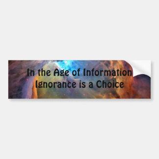 Edad de la pegatina para el parachoques de la info pegatina para auto