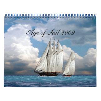 Edad de la vela 2009 calendarios de pared