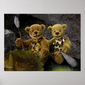 Edad de Piedra pequeña de los osos Póster