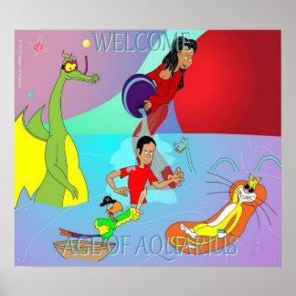 Edad del acuario póster