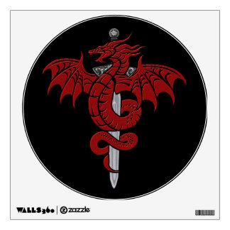 Edad del dragón - etiqueta de la espada del dragón vinilo adhesivo