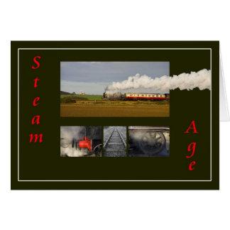 Edad del vapor tarjeta de felicitación