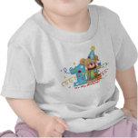 Edad linda 1 de la camiseta del cumpleaños del oso
