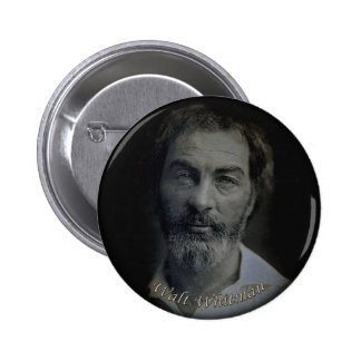 Edad Mano-Coloreada 29 del retrato de Walt Whitman Pin Redondo De 2 Pulgadas