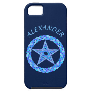 Edad pagana de Wicca del símbolo azul del iPhone 5 Case-Mate Protector