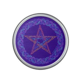 Edad pagana de Wicca del símbolo colorido del Altavoz Bluetooth