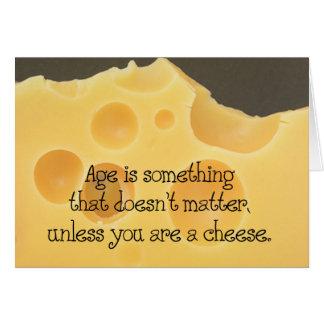 Edad y cumpleaños del queso felicitacion